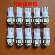 Wholesale 100 X T10 194,168,2825, 5 x 5050 SMD LED White Car Lights Lamp Bulb