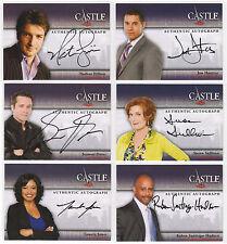 Castle Season 1 & 2 99 Card Mini-Master Set + 12 Autographs & Rare Sealed Binder