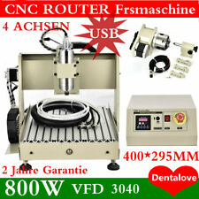 4 ASSI 3040 USB CNC Router Fresa Meccaniche 800W vfd Engraver Foratura macchina