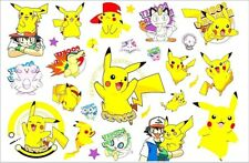 Pikachu Pokemon Pokeball Logo Icons Temporary Fake Tattoo