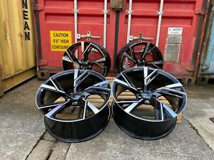"""19"""" RS5 STYLE ALLOY WHEELS FITS AUDI A4 A6 BLACK POLISHED (Fits: Audi) Brand new"""