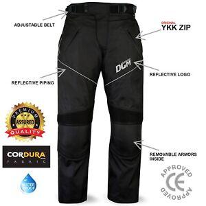 New Motorbike Motorcycle Waterproof Cordura Textile Trousers Pants Armours BLACK