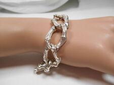 "Tiffany & Co. Bamboo Large Link Toggle Silver Bracelet Rare Vintage 8"" Heavy 62g"