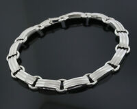 Tiffany & Co. Sterling Silver Statement Choker Collar Fancy Link Chain Necklace