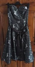 Ladies Debut charcoal silver and black formal dress size 10