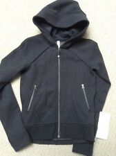 NWT Lululemon Happy Yin Year Hoodie Jacket ~ Sz 4 ~ Heathered Black ~ Fleece