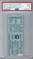 1949 YANKEES DATED TICKET JOE DIMAGGIO GRAND SLAM HOME RUN # 12  HR # 316 PSA 2