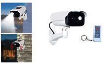Dummy Security Camera with Sensor Light - Alarm - Plus Remote Control -  Solar