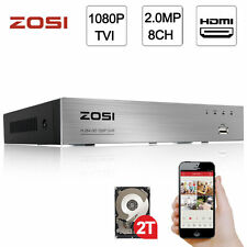 ZOSI 1080P 2.0MP 8CH DVR HDMI Network P2P Free Mobile App for Security System 2T