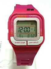 New Casio Sports Alarms Digital Pink Resin Band Unisex Watch SDB-100-4A SDB100