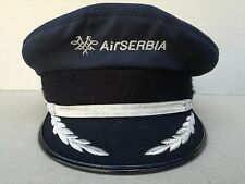 AIR SERBIA Captain Pilot 2013 CURRENT visor peaked cap VERY RARE/HARD TO OBTAIN