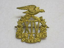Original Wwi New Zealand 14th (South) Otago Company Cap Badge