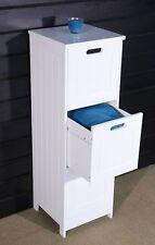 Tall Bathroom Cabinet 3 Drawer Standing Cupboard White Vanity Storage Unit