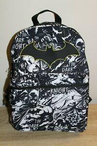 DC Comics Batman Backpack The Dark Knight Book Bag School Kids