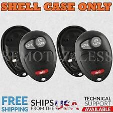 2 for Chevy GMC Hummer Olds Pontiac Keyless Remote Car Entry Key Fob Shell Case