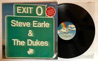 Steve Earle - Exit O - 1987 US 1st Press (EX) Hype Sticker Ultrasonic Clean
