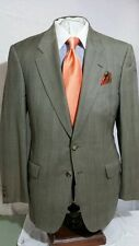 Mens Zanella.brown 2 button glenn plaid suit sz 42L
