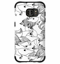 Samsung Galaxy S7 - Black/White/Tiger Lily Ballistic Urbanite Select Case