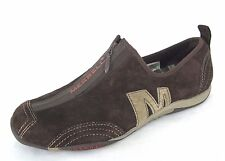 Merrell Shoes Sz 8.5 Womens Barrado Leather Brown Loafers Fashion Sneaker