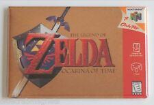Ocarina of Time FRIDGE MAGNET (2 x 3 inches) video game box legend zelda n64