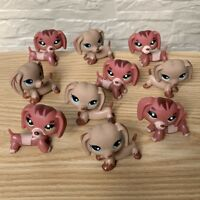 Lot 10Pcs Littlest Pet Shop Lot Cat Puppy Dachshund Dog LPS animals figure toy