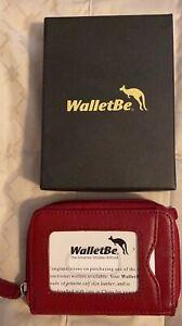 WalletBe wallet~ women's Leather ~ RED~ New In Box!