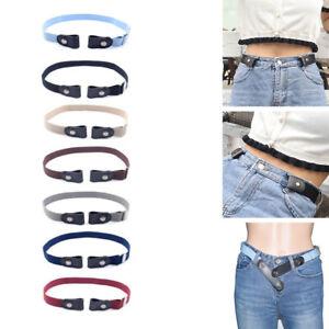 1pc Buckle-Free Elastic Belt for Women Men Invisible Belt Adjustable 80-100 cm