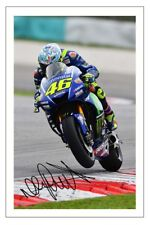 VALENTINO ROSSI SIGNED PHOTO PRINT AUTOGRAPH MOTO GP