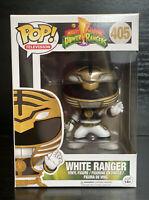 Pop! TV Mighty Morphin Power Rangers- White Ranger #405 Funko Pop #VAULTED #RARE