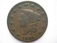 United States 1822 Large Cent F