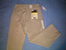NWT NEW mens size 32 X 30 khaki tan DOCKERS flat front relaxed pro style pants