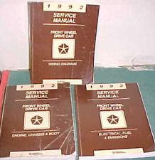 1992 Chrysler Lebaron New Yorker Dodge Daytona FWD Service Shop Repair Manual