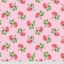 Cotton Quilting Fabric, Kiss Goodbye Cottage Rose Flower By FreeSpirit ~1/2 Yard