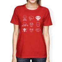 Skulls Womens Red Shirt