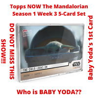Baby Yoda Star Wars The Mandalorian TOPPS NOW 5-Card Pack S1 Chapter 3