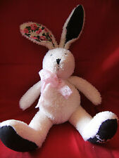 """PAUL SMITH parfums Limited Edition Cream Bunny T Soft Toy 15"""" from top of ears"""