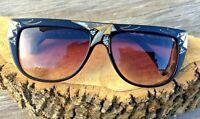 Vintage 1990's Ellesse By Marchon Gradient Lens Sunglasses W/Rhinestones France