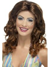 Dancing Queen Wig Brown Centre Parting with Curls