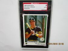 SGC AUTHENTICATED 1989 UPPER DECK # 371 JOSE CANSECO AUTOGRAPHED CARD