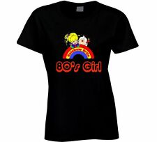 OLDSKOOL CUSTOM ARTWORK *RAINBOW BRITE 80'S GIRL* WOMENS Shirt *MANY OPTIONS*