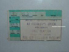 ERIC CLAPTON Concert Ticket Stub 1988 DENVER FIDDLER'S GREEN Blind Faith CREAM