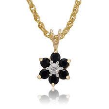 9 Carat Yellow Gold Sapphire Fine Necklaces & Pendants