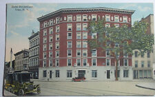1915 Postcard Of Hotel Rensselear Troy New York Sent To Pittsfield Ma