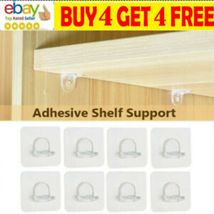 10PCS Self-Adhesive Shelf Support Pegs Layered Partition Bracket Support Paa