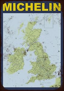 Michelin map metal wall sign
