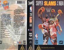 SUPER SLAMS OF THE NBA -VHS-NEW-Never played-Very rare!!-PAL-Original Oz release