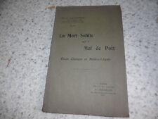 1907.La mort subite dans le mal de Pott.Médecine tuberculose.Louis Gauthier