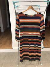 Jojo Maman Bebe maternity sheath dress orange colour stripe Medium