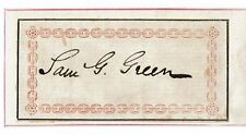 Samuel Gosnell Green - Autograph - 19th Century Baptist Minister & Bibliophile