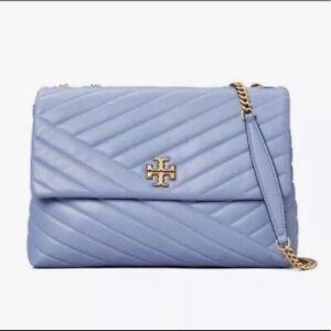 Tory Burch Kira Chevron LARGE Convertible Shoulder Bag - BLUEWOOD